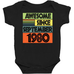 awesome since september 1980 Baby Bodysuit | Artistshot