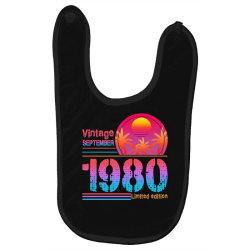 vintage september 1980 limited edition Baby Bibs | Artistshot