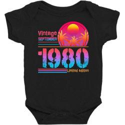 vintage september 1980 limited edition Baby Bodysuit | Artistshot