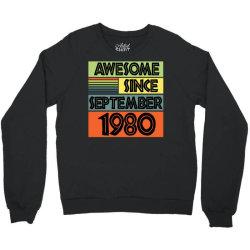awesome since september 1980 Crewneck Sweatshirt | Artistshot