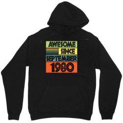 awesome since september 1980 Unisex Hoodie | Artistshot