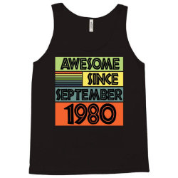 awesome since september 1980 Tank Top | Artistshot