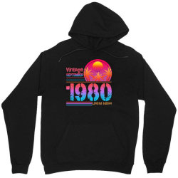 vintage september 1980 limited edition Unisex Hoodie | Artistshot