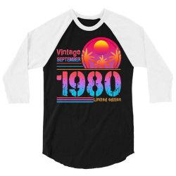 vintage september 1980 limited edition 3/4 Sleeve Shirt | Artistshot