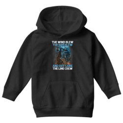 The Wind Blew Out Came The Line Crew Youth Hoodie   Artistshot
