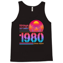 vintage september 1980 limited edition Tank Top | Artistshot
