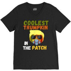 coolest trumpkin in the patch halloween V-Neck Tee   Artistshot