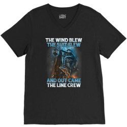 The Wind Blew Out Came The Line Crew V-Neck Tee | Artistshot