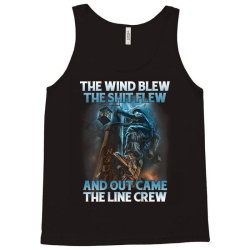 The Wind Blew Out Came The Line Crew Tank Top | Artistshot