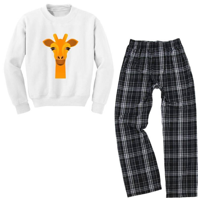 Giraffe Drawing Youth Sweatshirt Pajama Set | Artistshot