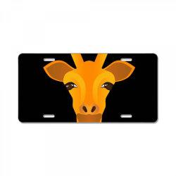 Giraffe drawing License Plate | Artistshot