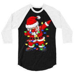 dabbing santa claus christmas 3/4 Sleeve Shirt   Artistshot