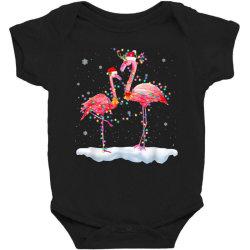 flamingo christmas tree santa hat xmas Baby Bodysuit | Artistshot