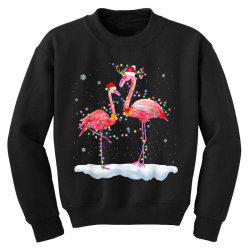 flamingo christmas tree santa hat xmas Youth Sweatshirt | Artistshot