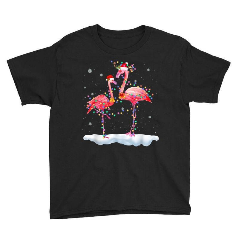 Flamingo Christmas Tree Santa Hat Xmas Youth Tee | Artistshot