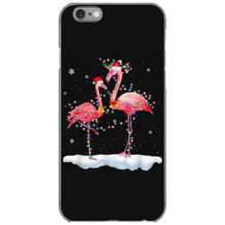flamingo christmas tree santa hat xmas iPhone 6/6s Case | Artistshot