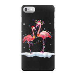 flamingo christmas tree santa hat xmas iPhone 7 Case | Artistshot
