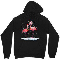 flamingo christmas tree santa hat xmas Unisex Hoodie   Artistshot