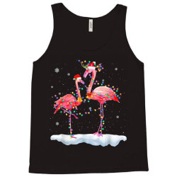 flamingo christmas tree santa hat xmas Tank Top   Artistshot