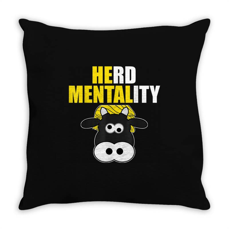 Herd Mentality Throw Pillow | Artistshot