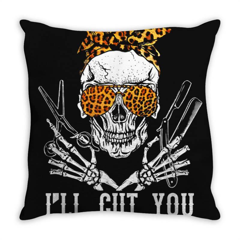 I'll Cut You Skull Throw Pillow | Artistshot