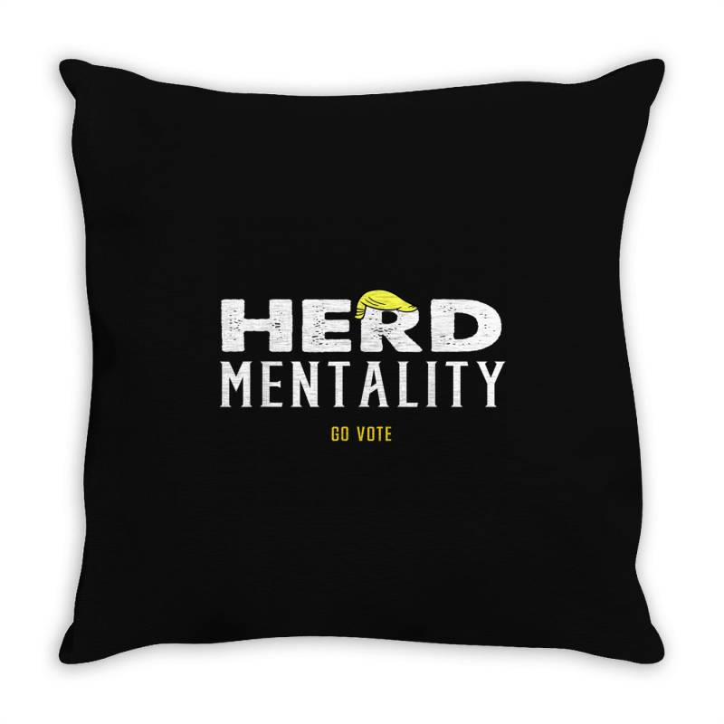 Herd Mentality Throw Pillow | Artistshot