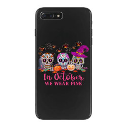 In October We Wear Pink Sugar Skull iPhone 7 Plus Case | Artistshot