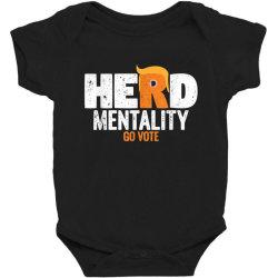 herd mentality go vote orange Baby Bodysuit   Artistshot