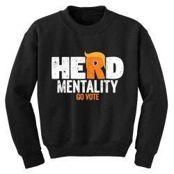 herd mentality go vote orange Youth Sweatshirt   Artistshot