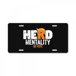 herd mentality go vote orange License Plate | Artistshot