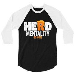 herd mentality go vote orange 3/4 Sleeve Shirt | Artistshot