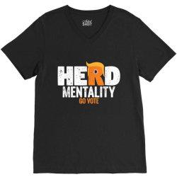 herd mentality go vote orange V-Neck Tee | Artistshot