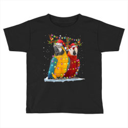 parrot reindeer xmas light christmas Toddler T-shirt | Artistshot