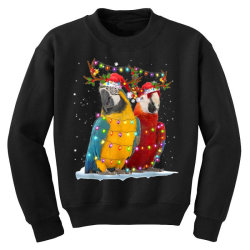 parrot reindeer xmas light christmas Youth Sweatshirt | Artistshot