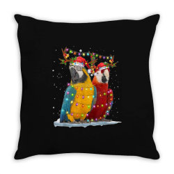 parrot reindeer xmas light christmas Throw Pillow | Artistshot