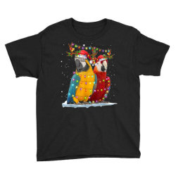 parrot reindeer xmas light christmas Youth Tee | Artistshot