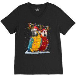 parrot reindeer xmas light christmas V-Neck Tee   Artistshot