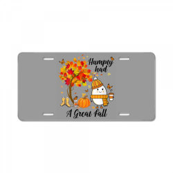 Humpty Had A Great Fall Funny Autumn License Plate   Artistshot