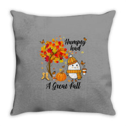 Humpty Had A Great Fall Funny Autumn Throw Pillow   Artistshot