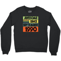 awesome since september 1990 Crewneck Sweatshirt | Artistshot