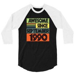 awesome since september 1990 3/4 Sleeve Shirt | Artistshot