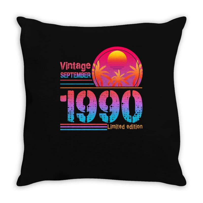 Vintage September 1990 Limited Edition Throw Pillow | Artistshot