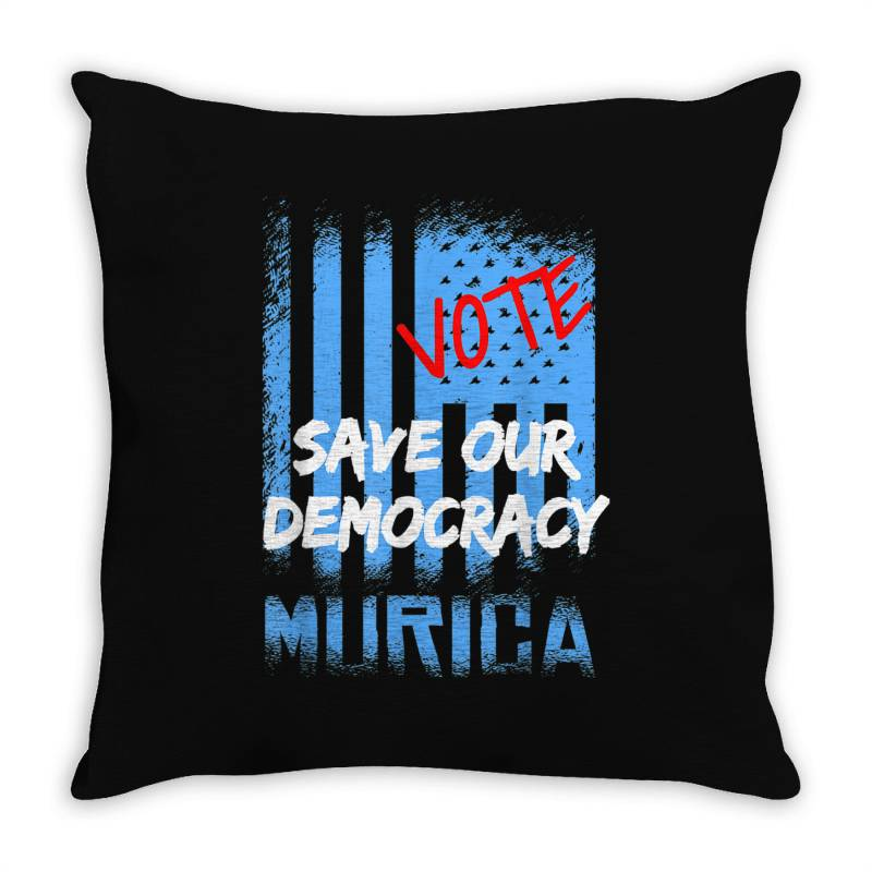 Save Our Democracy Throw Pillow | Artistshot