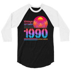 vintage september 1990 limited edition 3/4 Sleeve Shirt | Artistshot