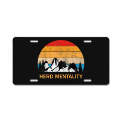 trump quoted herd mentality License Plate | Artistshot
