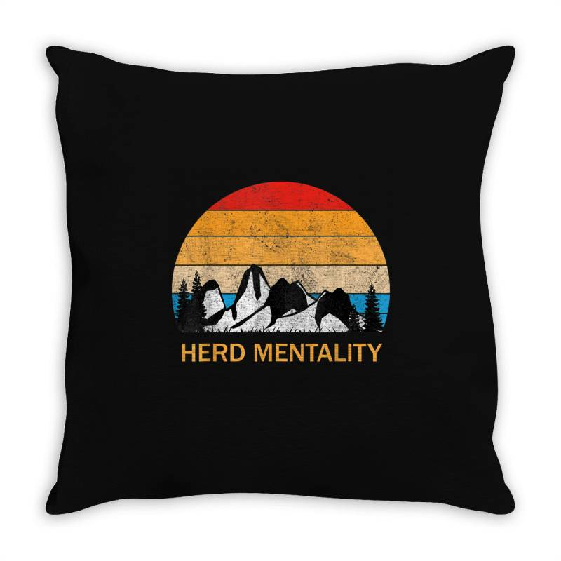 Trump Quoted Herd Mentality Throw Pillow | Artistshot