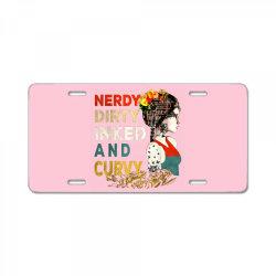 Nerdy dirty inked and curvy vintage License Plate   Artistshot
