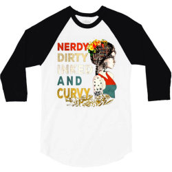 Nerdy dirty inked and curvy vintage 3/4 Sleeve Shirt | Artistshot