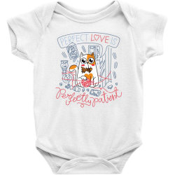 Perfect Love is Perfectly Patient Baby Bodysuit | Artistshot