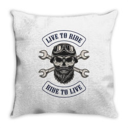 Live to ride, Motorcycles, Skull Throw Pillow | Artistshot